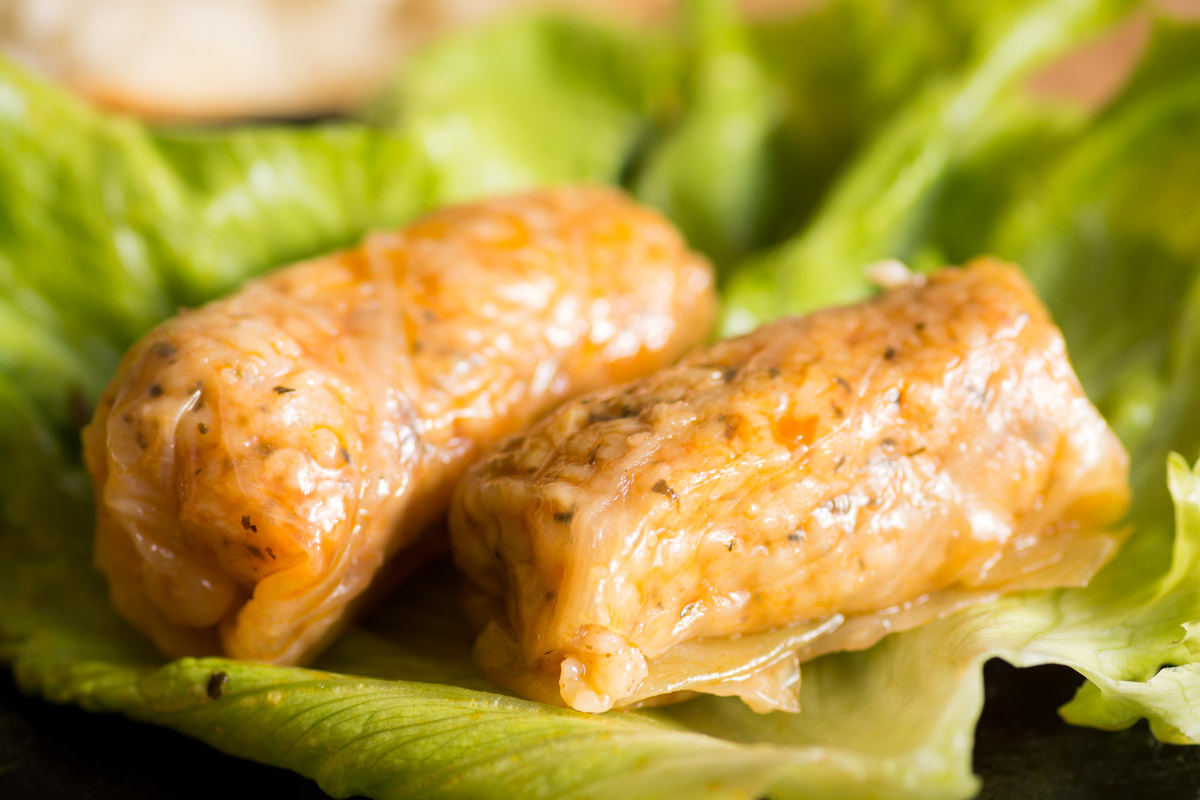 Zelevi Sarmi (Stuffed Cabbage Leaves)