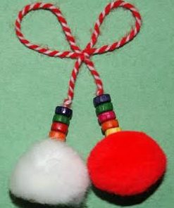 Martenitsa Pom Pom with beads