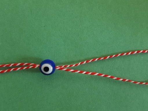 Martenitsa Bracelet: Blue Eyes