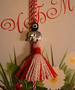 Martenitsa Necklace with Elephant & Bead
