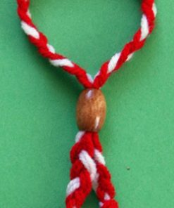 Bracelet with Wooden Bead, Thicker